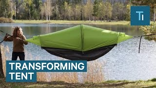This Hammock Can Turn Into A Tent And Even A Poncho