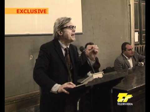 Vittorio Sgarbi a Carrara si