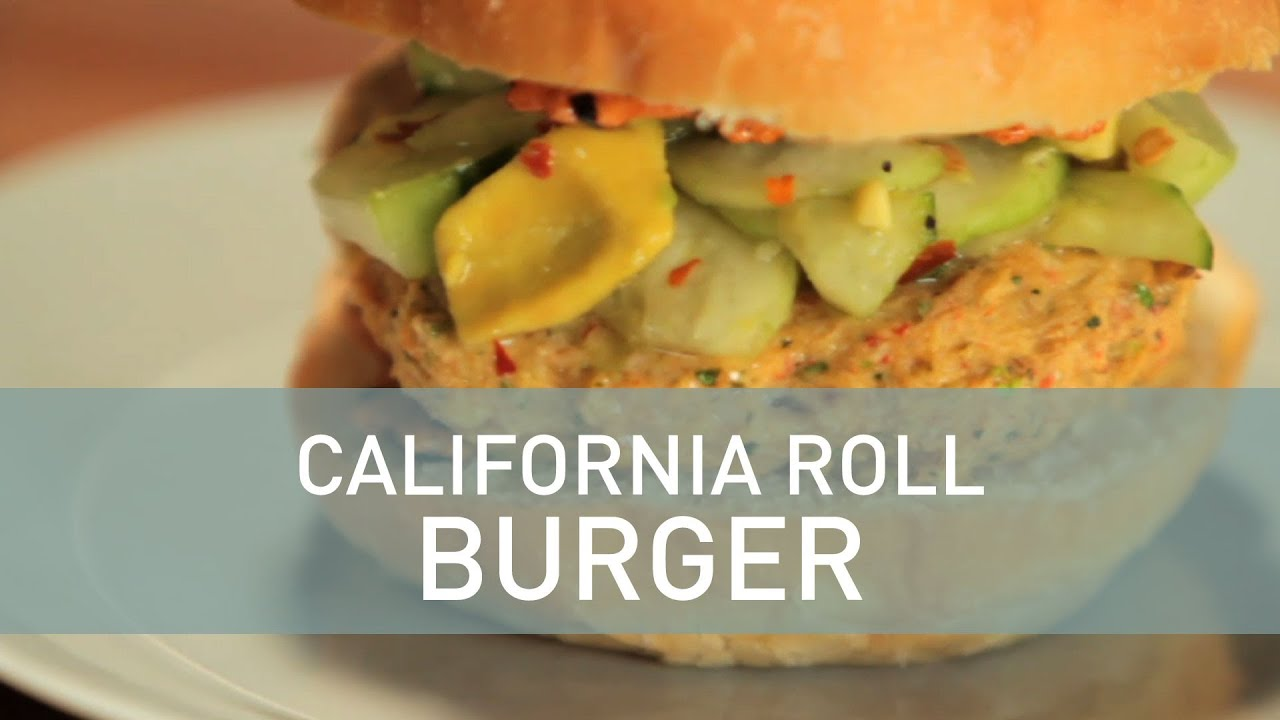 California Roll Burger - Food Deconstructed - YouTube