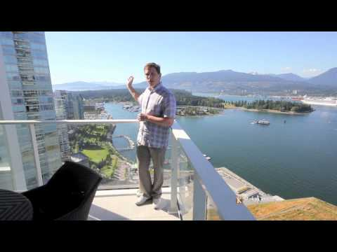 Vancouver Luxury Condo 3807 - 1011 West Cordova (Fairmont Estates) Coal Harbour (Video Tour)