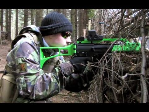 Airsoft War G36. M14. M4. M16 Scotland HD