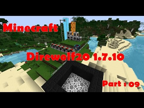 Minecraft - Direwolf20 1.7.10 FTB modpack - Part 09 - Hunting space junk