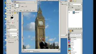 GIMP: How to combine images  Big Ben (Elizabeth Tower)  example