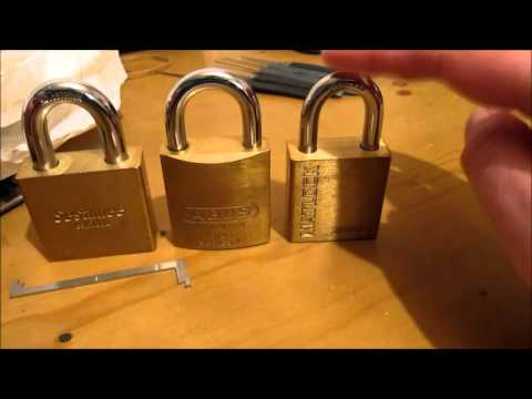 unboxing and picking a sesamee padlock