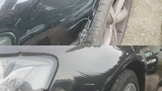 Paintless dent removal on audi fender.