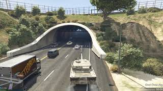 GTA 5 Online Stealing Tank from Military Base (PC version)