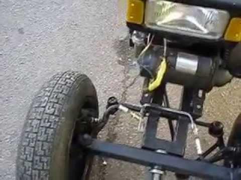 Как сделать рулевое на минитрактор из мотоблока