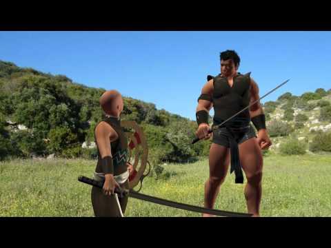 David And Goliath Animation video
