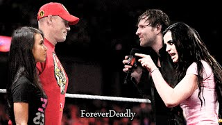 AJ Lee & Paige Save John Cena   WWE Edit *FAKE*