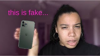 i got scammed with a fake iphone 11