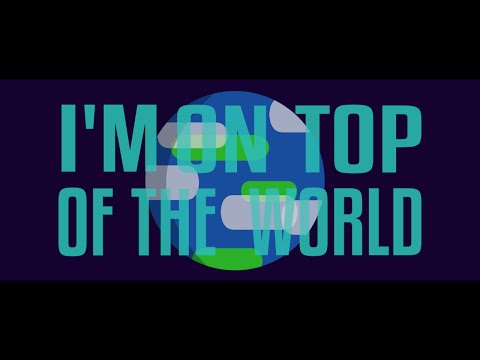 Imagine Dragons - On Top Of The World (Kinetic Typography Lyric Video)