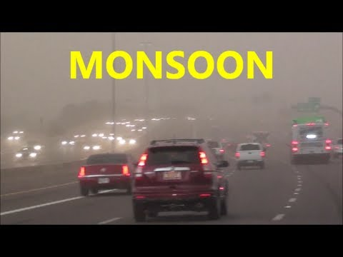 DRIVING INTO MONSOON STORM phoenix arizona 8-26-2013
