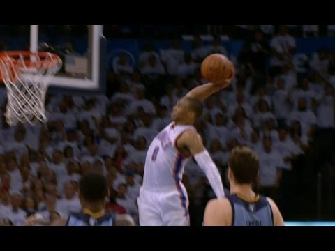 Russell Westbrook Gets Free and Throws the Hammer Down!