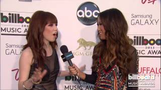 Carly Rae Jepsen on the Billboard Music Awards Blue Carpet 2013