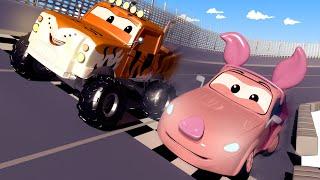 Cuộc đua trong ngày Tết Nguyên Đán ! - xe lửa Troy 🚉 những bộ phim hoạt hình về xe tải
