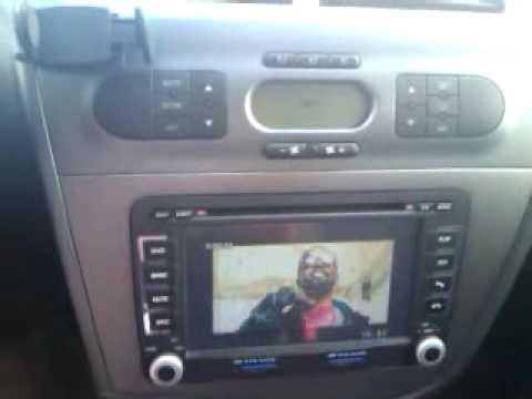 Radio dvd gps para seat leon 2 youtube for Mueble 2 din seat leon 1m