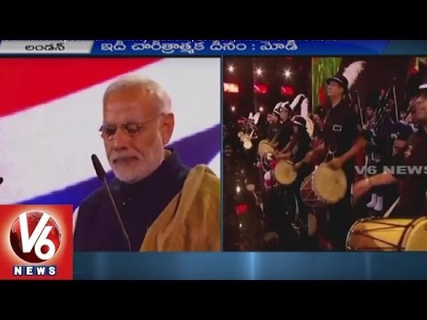 PM Modi Maiden Speech in Wembley Stadium | London | UK - V6 News
