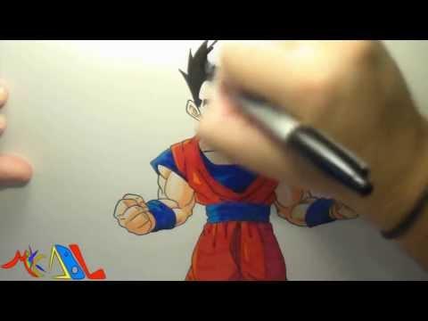 Dibujando a: Gohan Mistico