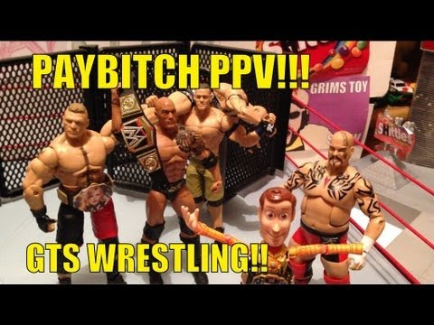 GTS WRESTLING: PAYBITCH PPV!! WWE Mattel action figure matches parody animation figures stop motion