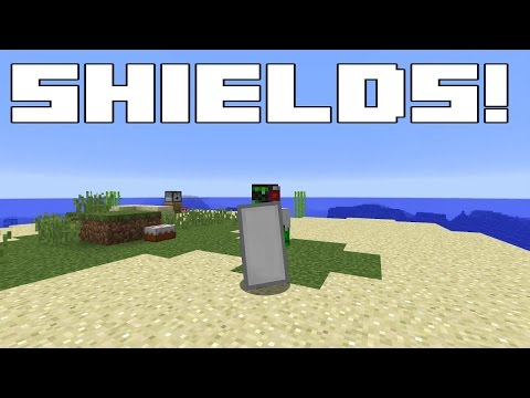 How to make a white shield in minecraft