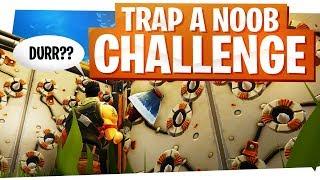 Trap a Noob Challenge - 24 Kill Duo Fortnite Fun Win