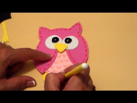 COMO HACER BUHO GRADUADO DE FOMI / FOMI GRADUATE OWL DIY