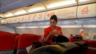 Air Asia Flight Phnom Penh Cambodia to Bangkok Thailand