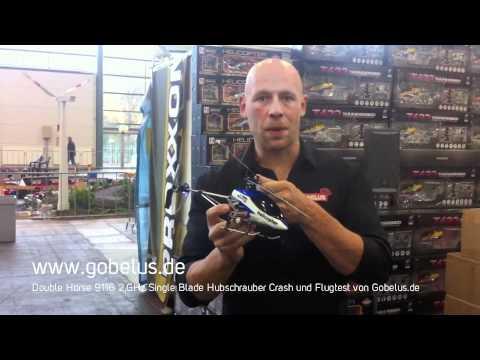 Double Horse 9116 2.GHz Single Blade Hubschrauber Crash und Flugtest von Gobelus.de