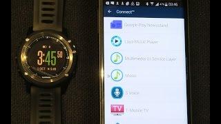 Garmin Fenix 3 Music Control setup and demo on Android phone