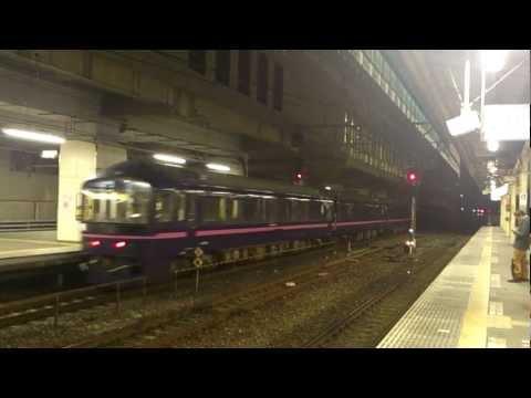 485系「華」回送列車JR小山駅着発シーン(ミュージックホーン付)
