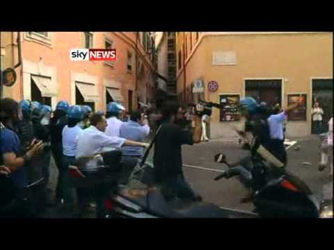 Riots In Rome As Europe Braces For Bad News