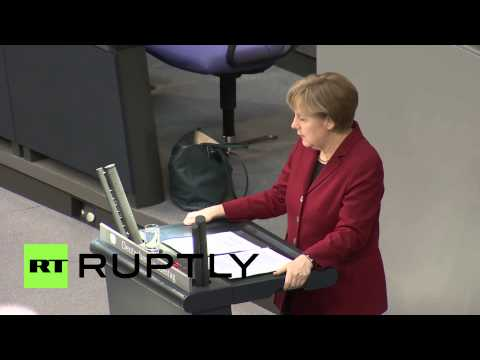 Germany: Merkel 'glad' of Tsipras visit, Bundestag bursts into laughter