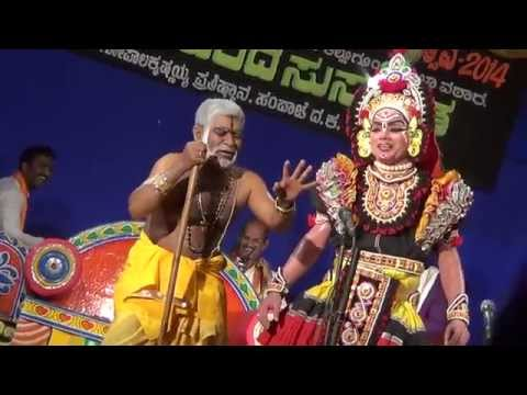Yakshagana -- Vamsha Vahini -  20 - Hasya video