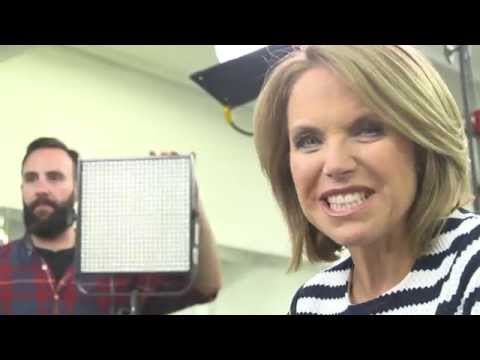 Katie Couric Watches Floyd Mayweather Train