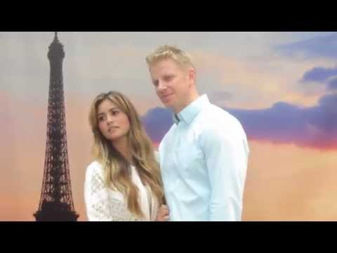 The Bachelor couple Sean Lowe & Catherine Lowe in Times Square celebrating romance with ProFlowers