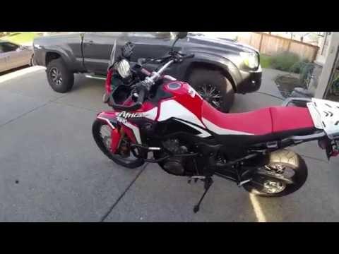 Africa Twin - Outback Motortek crash bar and skid plate install