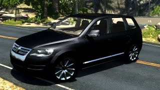 BeamNG.Drive Mod : Volkswagen Touareg R50 (physics Crash test)