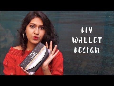 Diy wallet design | Convert boring wallet to colorful designer wallet | Niki's DIY Diary