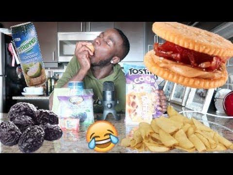 TRYING RANDOM FOODS ASMR *HILARIOUS* | INTENSE FOOD TRIGGERS!!