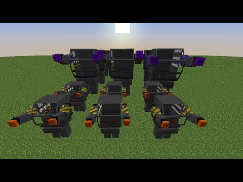 Minecraft: BATTLE ROBOTS! (CREATE A ROBOT ARMY, GATHER RESOURCES & FIGHT!) - Mod Showcase!
