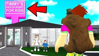 NEVER Go Into A KIDS Restaurant.. They Scammed ADULTS! (Roblox Bloxburg)
