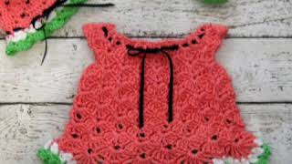 The easiest and newest knitted children's dress models