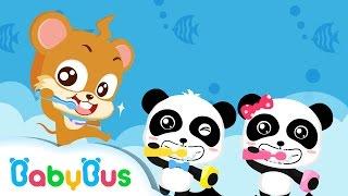 ❤ Brush Your Teeth | Animation For Babies | BabyBus | Baby Panda
