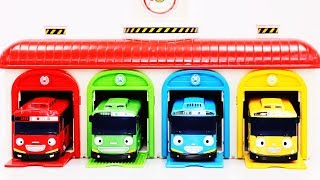 Tayo the Little Bus | Parking Garage Services Playset |Super Panda | Car Toy | Surprise Egg #ToyBus