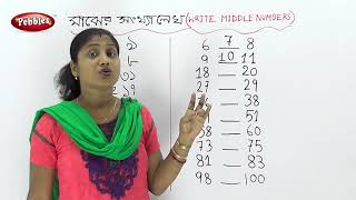 Write A Middle Number | Maths | Basic Maths | Preschool in Bengali | preschool Maths