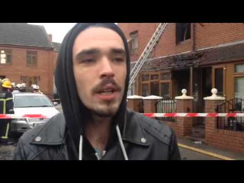 Video: Ian Molloy at scene of fire