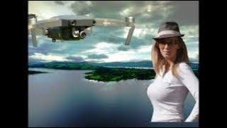 DJI MavicPro high flight over lake and Hollywood landscape scenic ! ANd DJI Phantom4