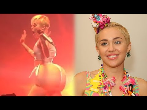 Miley Cyrus Mocking Nicki Minaj With a Fake Booty?