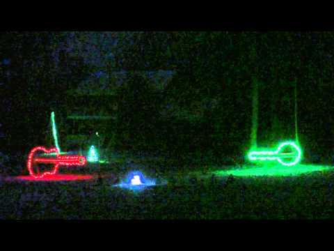 Duelling Jingle Bells/Banjos Light Show 2010 Music Videos