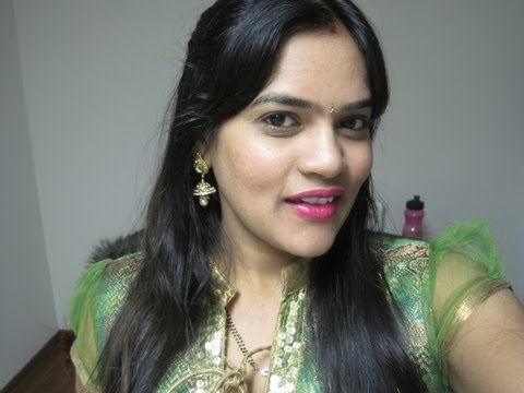 Easy hairstyle for long hair for navratri
